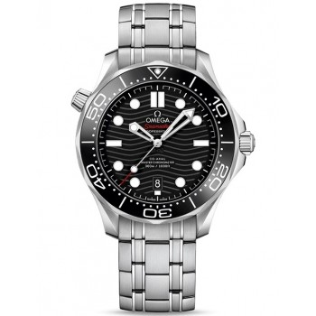 Captain Replica Watch - Omega Seamaster Diver 300M Master Co-Axial Steel Black 210.30.42.20.01.001