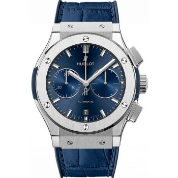 Captain Replica Watch - Hublot Classic Fusion Chronograph 45mm Blue 521.NX.7170.LR