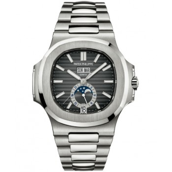 Captain Replica Watch - Patek Philippe Nautilus Annual Calendar Black Dial 5726/1A-001