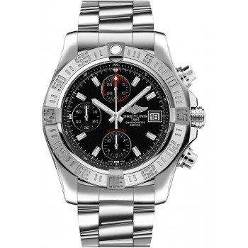 Captain Replica Watch - Breitling Avenger II Steel Black Dial Chronograph A1338111/BC32/170A