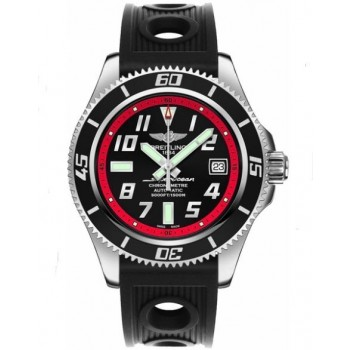 Captain Replica Watch - Breitling Superocean 42 Black Dial Red A1736402/BA31-202S