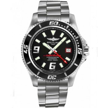 Captain Replica Watch - Breitling Superocean 44 Steel Black and Red A1739102/BA76-162A
