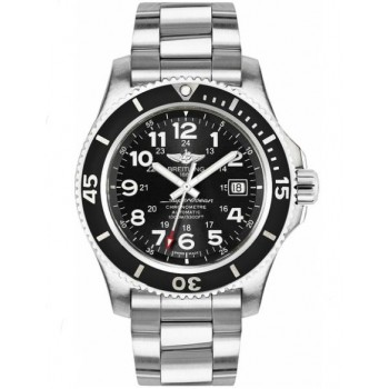 Captain Replica Watch - Breitling Superocean II 44 Stainless Steel Black Dial A17392D7/BD68-162A