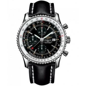 Captain Replica Watch - Breitling Navitimer World Black Dial A2432212/B726/441X/A20BA.1