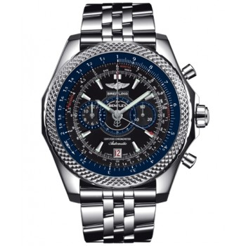 Captain Replica Watch - Breitling Bentley Supersports Black Dial Blue A2636416/BB66