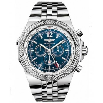 Captain Replica Watch - Breitling Bentley GMT Steel Blue Dial A4736212/C768/998A