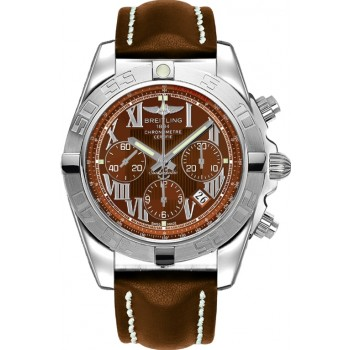 Captain Replica Watch - Breitling Chronomat 44 Brown Roman Dial AB011011/Q566/438X