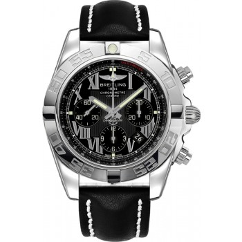 Captain Replica Watch - Breitling Chronomat 44 Black Roman Dial AB011012/B956/435X