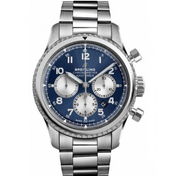 Captain Replica Watch - Breitling Navitimer 8 B01 Chronograph Blue Dial AB0117131C1A1