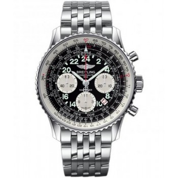 Captain Replica Watch - Breitling Navitimer Cosmonaute Steel Black Dial AB021012/BB59/447A