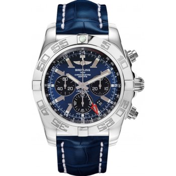 Captain Replica Watch - Breitling Chronomat GMT Blackeye Blue Dial AB041012/C835