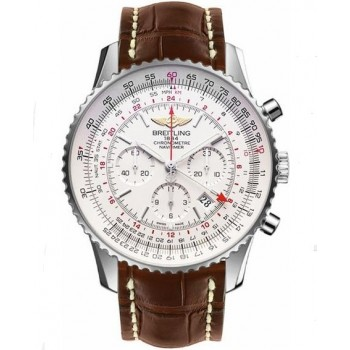 Captain Replica Watch - Breitling Navitimer GMT Silver Dial AB044121/G783/756P