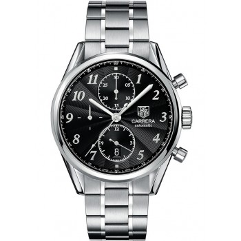 Captain Replica Watch - TAG Heuer Carrera Heritage Calibre 16 Chronograph Black Dial CAS2110.BA0730