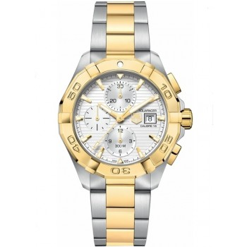 Captain Replica Watch - TAG Heuer Aquaracer 300M Chronograph 43mm Two Tone CAY2121.BB0923