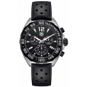 Captain Replica Watch - TAG Heuer Formula 1 Chronograph 43mm Black Dial Quartz CAZ1010.FT8024