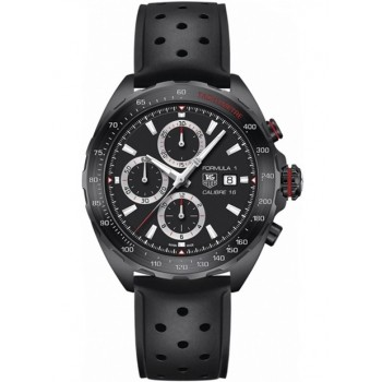 Captain Replica Watch - TAG Heuer Formula 1 Calibre 16 All Black Chronograph CAZ2011.FT8024