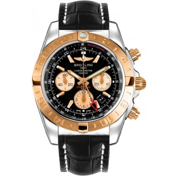 Captain Replica Watch - Breitling Chronomat 44 GMT Two Tone Black Dial CB042012/BB86