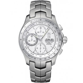 Captain Replica Watch - TAG Heuer Link Chronograph Silver Dial CJF211B.BA0594