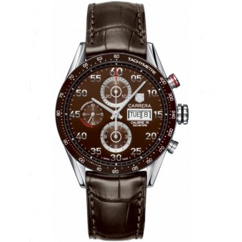 Captain Replica Watch - TAG Heuer Carrera Calibre 16 Day Date Chronograph Brown Dial CV2A12.FC6236