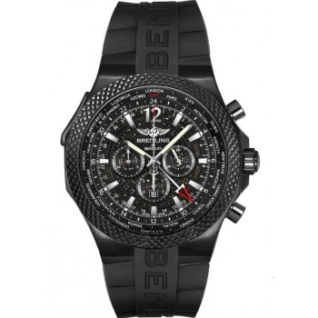 Captain Replica Watch - Breitling Bentley GMT Midnight Carbon Black Steel M4736225/BC76/222S