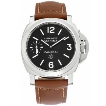 Captain Replica Watch - Panerai Luminor Marina Logo 44mm Black Dial PAM00005