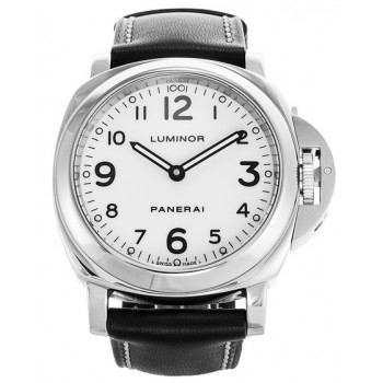 Captain Replica Watch - Panerai Luminor Base 44mm White Dial PAM00114