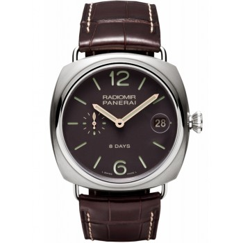 Captain Replica Watch - Panerai Radiomir 8 Days Brown Dial 45mm PAM00346