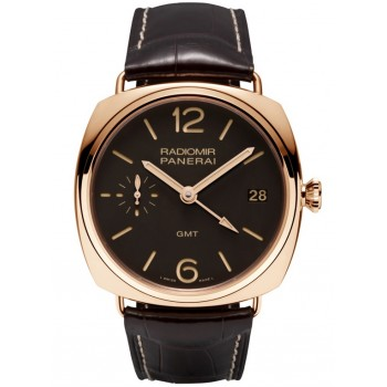Captain Replica Watch - Panerai Radiomir 3 Days GMT Rose Gold 47mm PAM00421