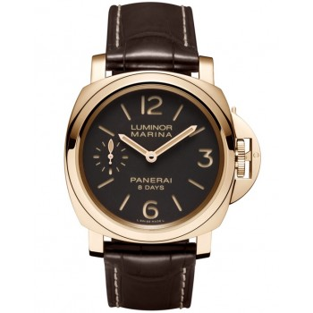 Captain Replica Watch - Panerai Luminor Marina 8 Days Rose Gold PAM00511