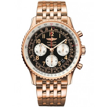 Captain Replica Watch - Breitling Navitimer 01 43mm Rose Gold Black Dial RB012012/BB07/447R