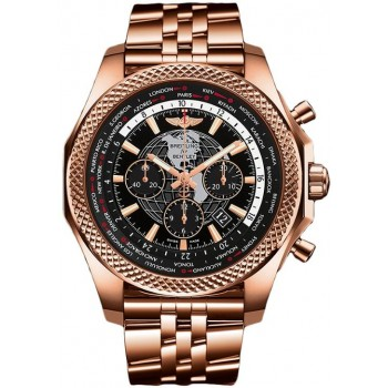 Captain Replica Watch - Breitling Bentley B05 Unitime Rose Gold Black Dial RB0521U4/BE02/990R