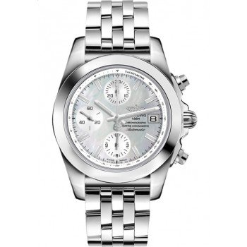 Captain Replica Watch - Breitling Chronomat 38 Steel Mother of Pearl White Dial W1331012/A774