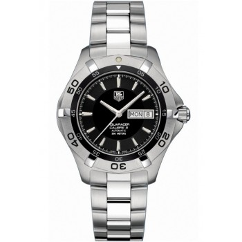 Captain Replica Watch - TAG Heuer Aquaracer 2000 Day Date 41mm Black Dial WAF2010.BA0818