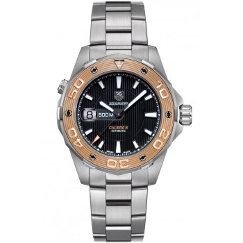 Captain Replica Watch - TAG Heuer Aquaracer 500M Calibre 5 Steel Rose Gold Bezel WAJ2150.BA0870