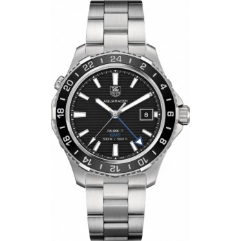 Captain Replica Watch - TAG Heuer Aquaracer 500M GMT 41mm Black Dial WAK211A.BA0830
