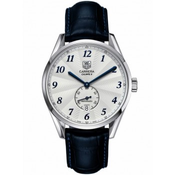 Captain Replica Watch - TAG Heuer Carrera Heritage Calibre 6 Silver Dial with Blue Hands WAS2111.FC6293