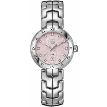 Captain Replica Watch - TAG Heuer Link 29mm Pink Diamonds Dial For Women WAT1415.BA0954