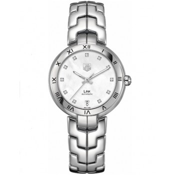 Captain Replica Watch - TAG Heuer Link 34.5mm Mother of Pearl White For Women WAT2315.BA0956