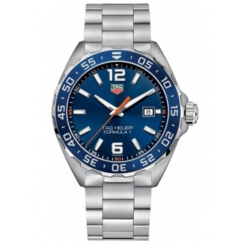 Captain Replica Watch - TAG Heuer Formula 1 43mm Steel Blue Dial Quartz WAZ1010.BA0842