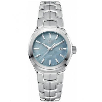 Captain Replica Watch - TAG Heuer Link 32mm Mother of Pearl Blue Dial For Women WBC1311.BA0600