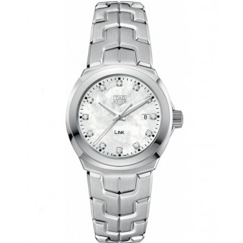 Captain Replica Watch - TAG Heuer Link 32mm Mother of Pearl White Diamonds For Women WBC1312.BA0600