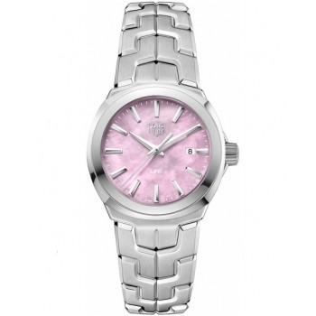 Captain Replica Watch - TAG Heuer Link 32mm Mother of Pearl Pink Dial For Women WBC1317.BA0600