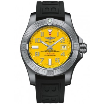 Captain Replica Watch - Replica Breitling Avenger II Seawolf Cobra Yellow Dial A17331101I1S2