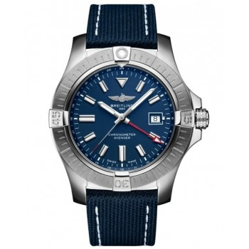 Captain Replica Watch - Breitling Avenger GMT 45 Blue A32395101C1X2