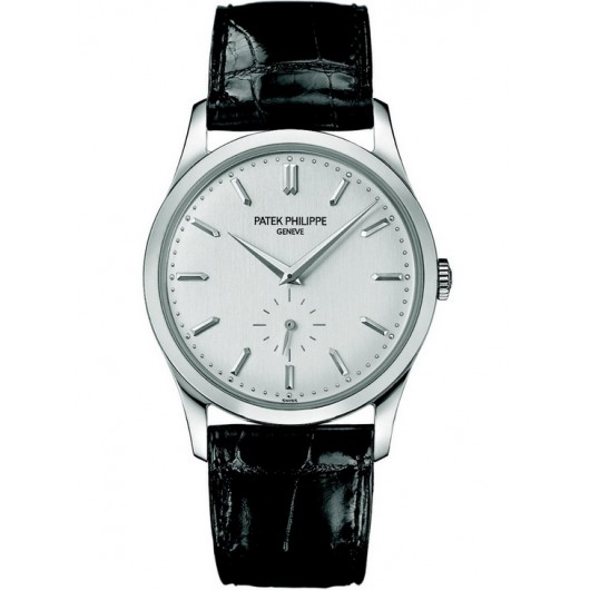 Captain Replica Watch - Patek Philippe Calatrava White Gold 5196G-001