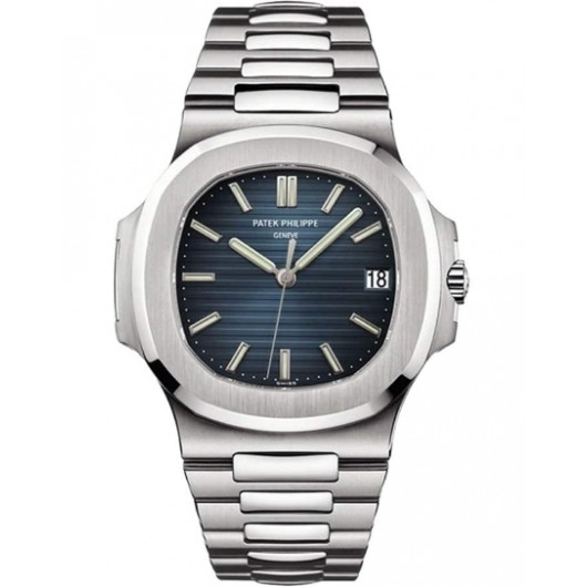 Captain Replica Watch - Patek Philippe Nautilus Stainless Steel Blue Dial 5711/1A-010