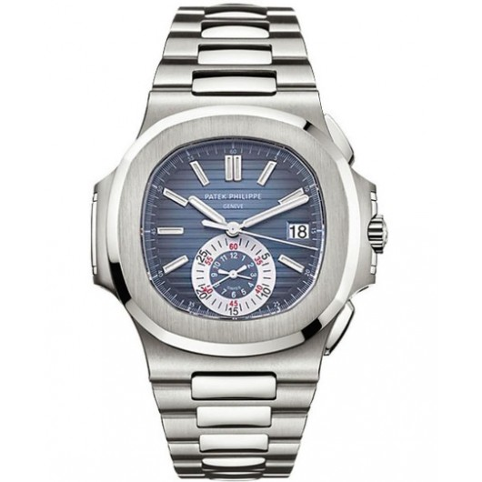 Captain Replica Watch - Patek Philippe Nautilus Steel Chronograph Blue Dial 5980/1A-001