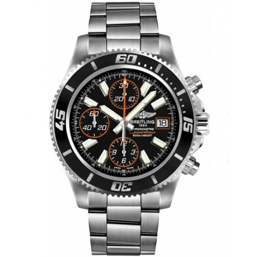 Captain Replica Watch - Breitling Superocean Chronograph II Black Orange A1334102/BA85-162A