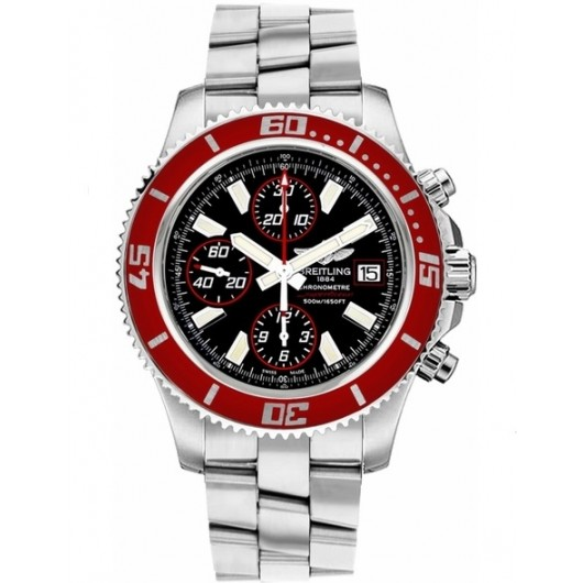 Captain Replica Watch - Breitling Superocean Chronograph II Steel Red Bezel A13341X9/BA81