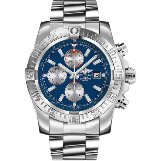 Captain Replica Watch - Breitling Super Avenger II Chronograph Blue Dial A1337111/C871/168A